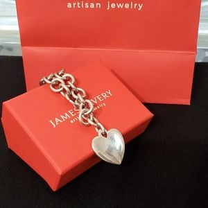 James Avery Classic Cable Charm Bracelet W/Heart